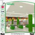 Estante de la góndola del supermercado del estilo de la moda para la exhibición