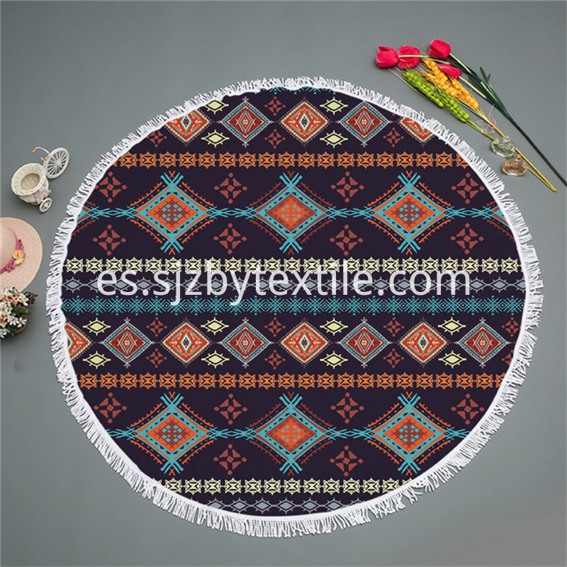Round Printed Towel