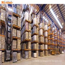 bastidores de almacenamiento de paleta de almacén van trasiego y estantería
