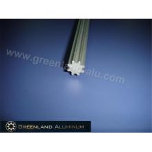 Наклонный стержень из алюминиевого профиля для вертикальных жалюзи, анодированный серебристый