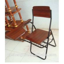 Chaise pliante étudiante de haute qualité Chaise de bureau en bois de meilleur prix Chaise de rédaction de vente chaude