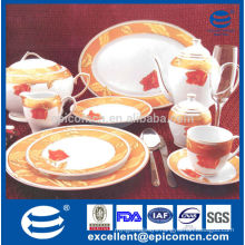 royal full set dinnerware with ceramic dishes and tea service set