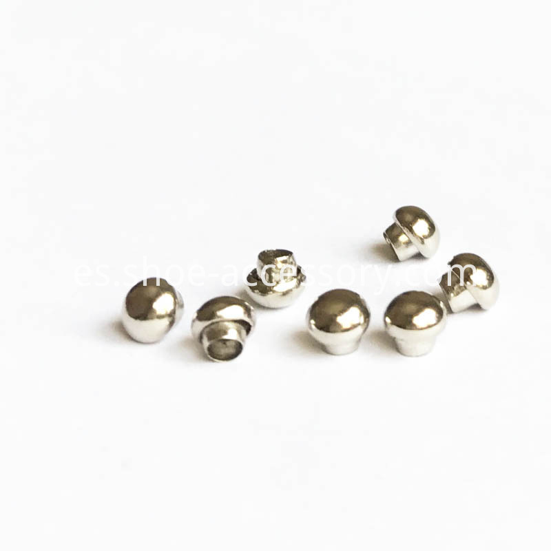 4mm Silver Hlaf-Round Rivets