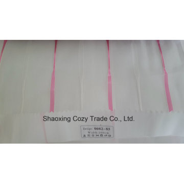 New Popular Project Stripe Organza Voile Sheer Curtain Fabric 008285