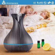 Aroma-ätherisches Öl Diffusor mit Holzmaserung und schönen Farbwechsel LED-Leuchten