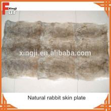 Wholesale chinois naturel plaque de peau de lapin brun