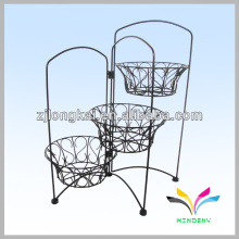 China Manufacture quality metal 3 tier flower pot stand