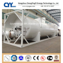 Cryogenic LNG Lox Lin Lar Lco2 Tank Container with ASME