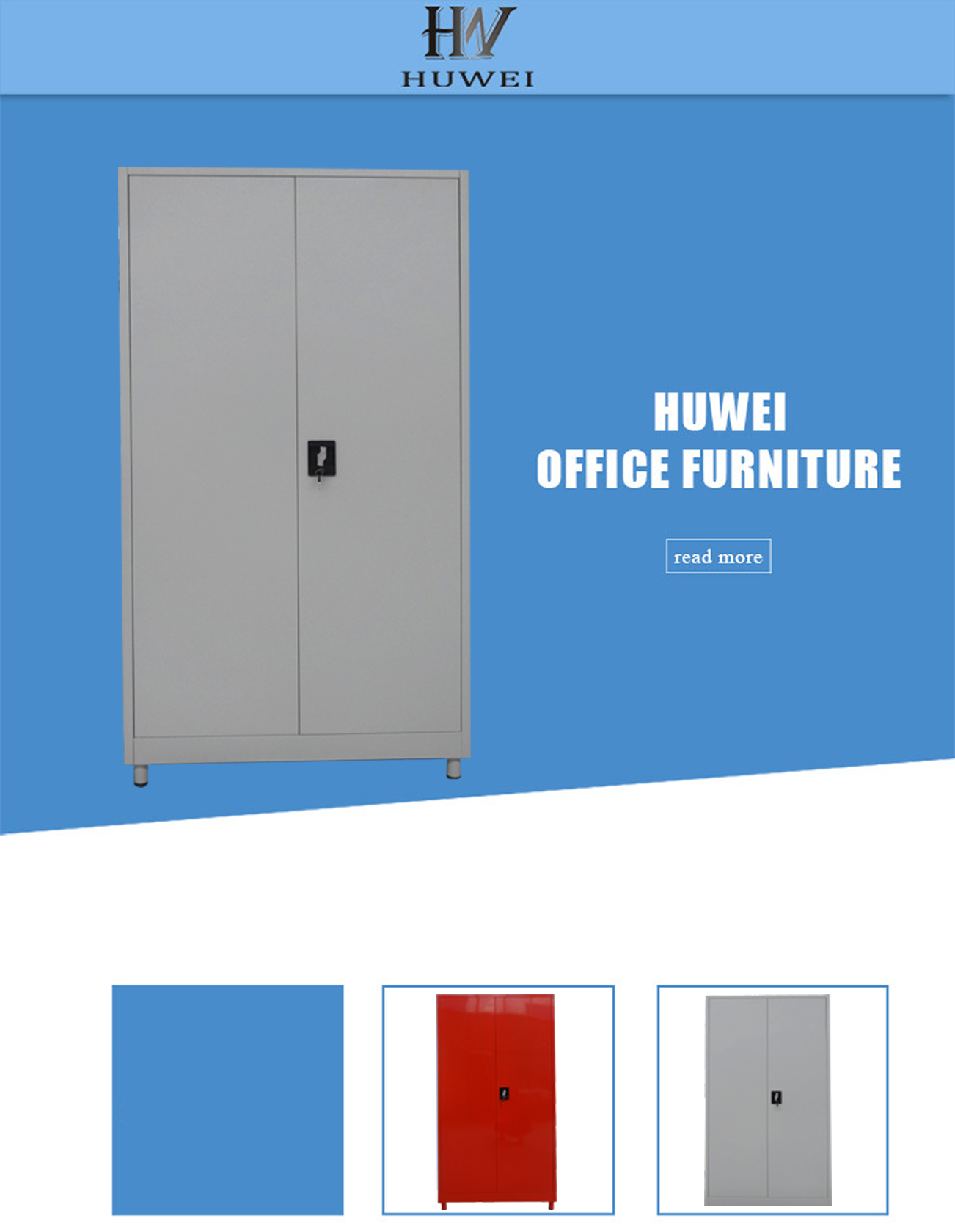 knock down steel storage cabinet