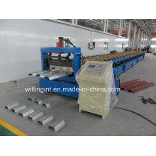 Máquina formadora de rollos de plataforma de piso de chapa de acero inoxidable
