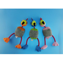 Turkey Cuttom Rope Toy with Squeaker for Pets Play