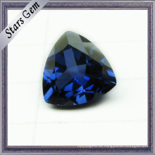 Triángulo brillante corte 5X5mm Venta caliente azul corindón zafiro