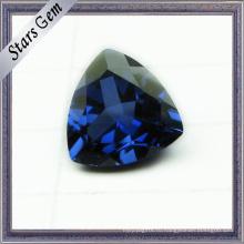 Треугольник бриллиант огранки 5х5мм горячая Распродажа синий Корунд Сапфир