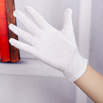 Gants d'inspection en coton blanc