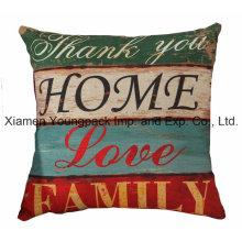 "18""X 18""Home Decorative Custom Printed Cotton Linen Zipper Square Sofa Throw Pillow Covers"