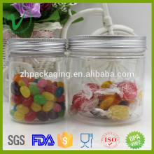 Wholesale clear food grade hot selling plastic bottle candy jar with cap