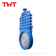 Low pressure customized delta rubber seat iron kinfe gate valve