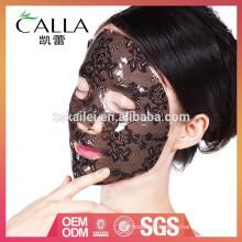2016 nueva máscara de blanqueo de hidrogel de encaje coreano