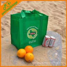 bolso de compras reutilizable del embalaje de la puerta del eco 80gsm no tejido