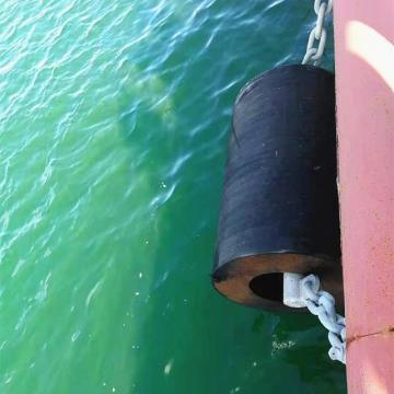 Defensa cilíndrica de goma de los parachoques marinos duraderos para el muelle