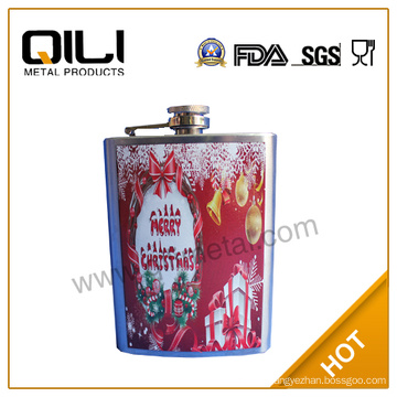 Crystal hip flask with water-transfer