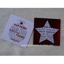 Cartão do Natal do brilho Cartão do cumprimento do feriado da estrela da fl