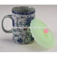 Tampa de copo de chá de silicone nova design inteligente