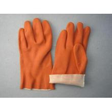 Kaffee PVC Interlock Liner Handschuh-5132