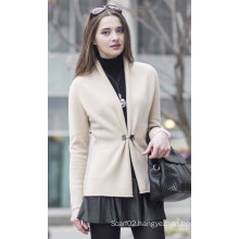 Women′s Cardigan Cashmere Sweater (1500002076)