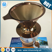 Eco-friendly stainless steel pour over coffee cone dripper for Chemex coffee maker