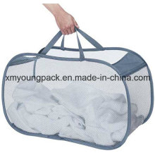 Fashion Pop and Foldable Mesh Collapsible Laundry Basket