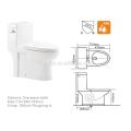 CB-9518 exportador de China UPC baño de un solo rubor nuevo diseño inodoro americano