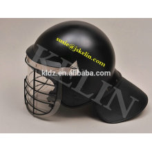 Anti Riot Helmet with visor and metal grid Fabric-covered neck protector