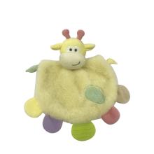 Juguetes de bebé de toalla de león amarillo