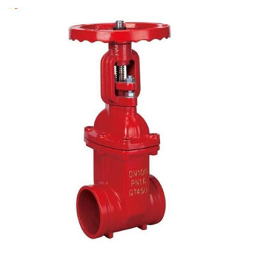 Vanne à vanne rainurée pour eau os et y anti-incendie