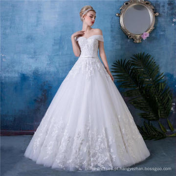 Comprimento do assoalho vestido de noiva vestido de noiva HA553
