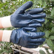 Gants en nitrhe bleu lourd Gant de travail de sécurité Chine