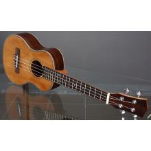 Red pine noodle ukulele lettering