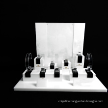Custom Design Retail Counter Acrylic Watch Display Stand for Shop Interior Design
