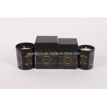 Mini & Normalgröße Schwarz Glas Jar Candle