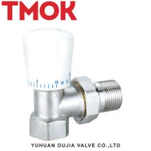 brass nickle plating with platic handle radiator valve