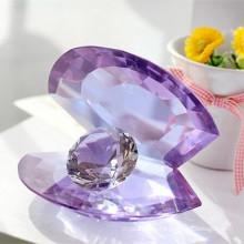 Escudo de cristal com artesanato de diamante para presente