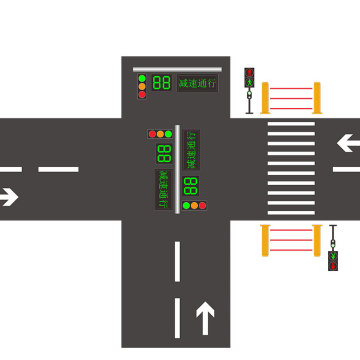 crossing road safetypedestrian led traffic light project