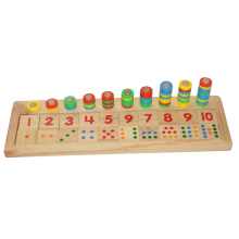 Wooden Count & Match Numbers Board (81945)