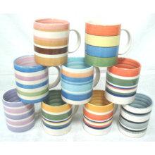 Taza de café de cerámica de encargo al por mayor de la etiqueta