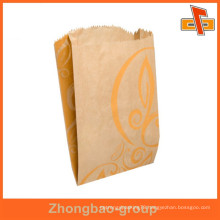 Guangzhou factory laminated material aseptic custom fast food paper bag with printing