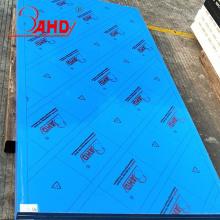 Folha azul do HDPE do PE da espessura 4x8 do tamanho