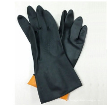 Heavy Duty Black Industrial Latex Gloves Rubber Cleaning Glove