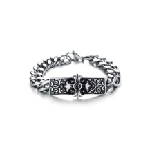Mode billige Silberarmbänder, Kreuzzeichenarmbänder, silberne Armbänder der Männer