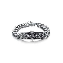Moda barato pulseiras de prata, cruz sinal pulseiras, mens pulseiras de prata